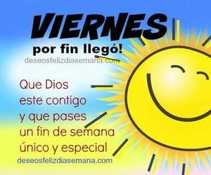 viernes, frases en español, and fin de semana image