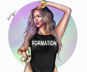 beyoncé, formation, and beyonce art image