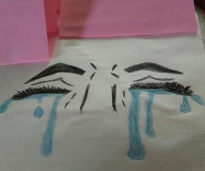 art, crying, and face image