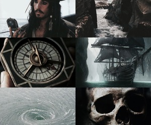 captain, captain jack sparrow, and Collage image