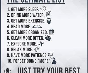 list, more, and relax image