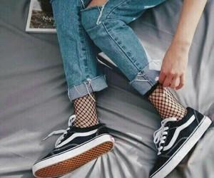 jean, vans, and çorap image