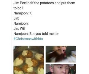 bts, funny, and jin image