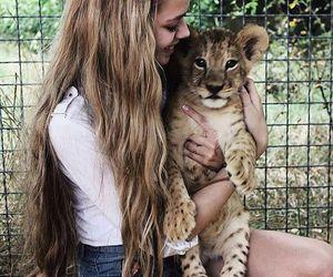 girl, animal, and tumblr image