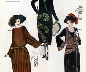 1920s, art deco, and fashion image