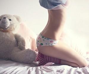 girl, sexy, and bear image