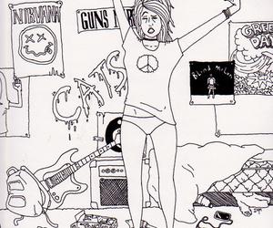 girl, nirvana, and rock image