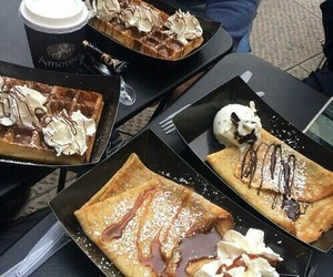 chocolate, crepes, and food image
