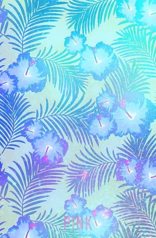 aqua, blue, and blue flower image