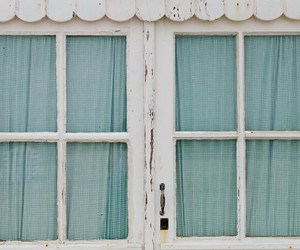 window, vintage, and blue image