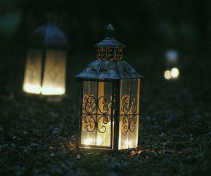 light, lantern, and dark image