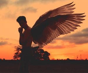 dark, divine, and wings image