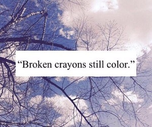 quotes, broken, and crayon image