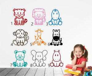 etsy, monkey, and kids room decals image