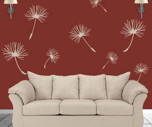 etsy, flower wall art, and wall graphic image