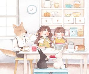 animals, fox, and twins image