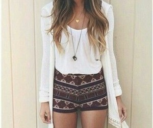 casual, fashion girl, and necklace image