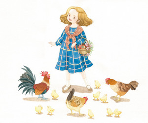 Chick, Chicken, and illustration image