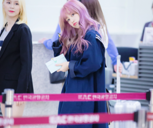 crystal clear, korean, and purple hair image