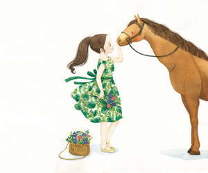 animal, horse, and illustration image