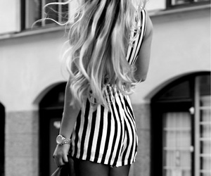 black, white, and ootd image