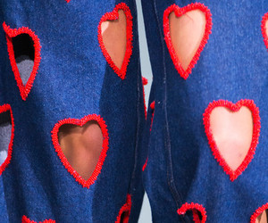 heart, jeans, and red image