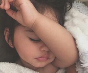 adorable, little girl, and sleepy image