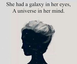eyes, galaxy, and mind image