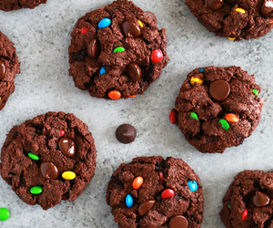 chocolate, Cookies, and m&ms image