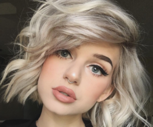 hair, makeup, and blonde image