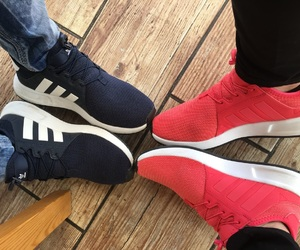 adidas, blue, and coral image