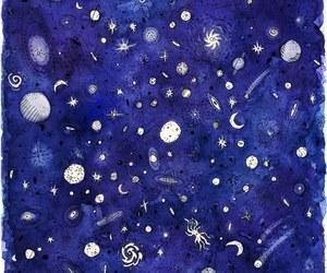 azul, estrellas, and Noche image