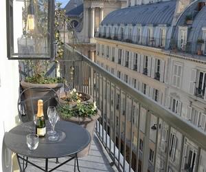 paris, balcony, and city image