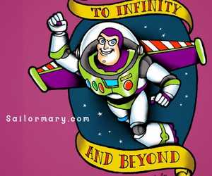 buzz lightyear, disney, and pixar image
