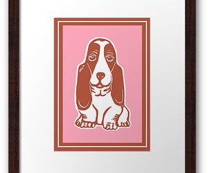 animal art, basset hound, and dog art image