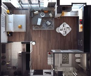 apartment, interior, and blueprints image