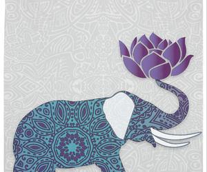 etsy, indian art, and elephant design image