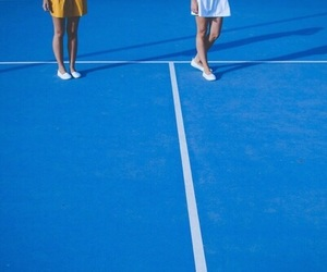 blue and tennis court image