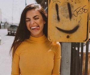 yellow, girl, and smile image