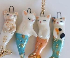 cat, mermaid, and porcelain image