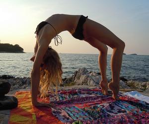 beach, hippie, and ocean image