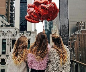balloons, bff, and heart image