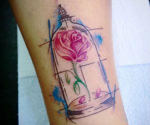 aquarela, flor, and flower image