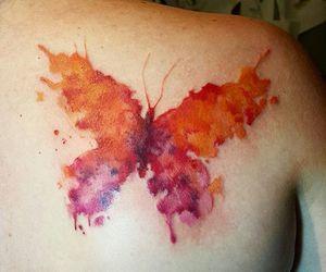 aquarela, borboleta, and butterfly image