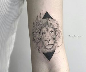 leao, lion, and tattoo image