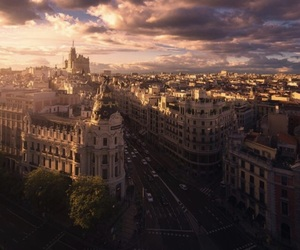 madrid, city, and sky image