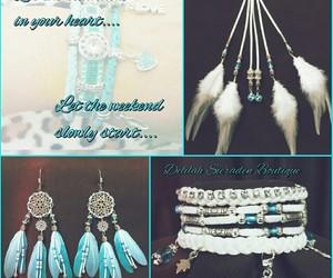 bohemian, earrings, and festival image