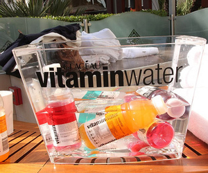 drink, vitamin water, and summer image