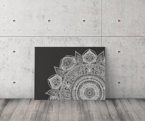 black and white, etsy, and boho mandala image