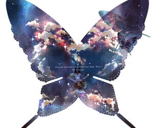 anime and butterfly image
